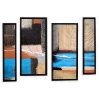 4-Piece Weaving 24-Inch x 36-Inch Framed Canvas Wall Art