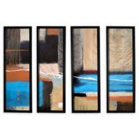 Herb Dickinson Weaving 4-Piece 24-Inch x 32-Inch Framed Canvas Wall Art