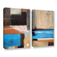 2-Piece Art Weaving 18-Inch x 24-Inch Canvas Wall Art