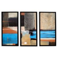 Weaving 36-Inch x 54-Inch Framed Canvas Wall Art (Set of 3)