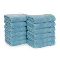 Nautica® 12-Piece Belle Haven Wash Towel Set in Turquoise/Aqua