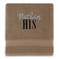Wamsutta® Personalized Hygro® His or Hers Duet Bath Towel in Latte