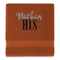 Wamsutta® Personalized Hygro® His or Hers Duet Bath Towel in Spice