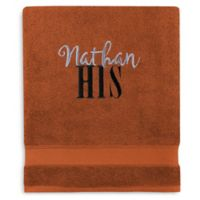 Wamsutta® Personalized Hygro® His or Hers Duet Bath Sheet in Spice