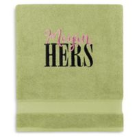 Wamsutta® Personalized Hygro® His or Hers Duet Bath Sheet in Pear
