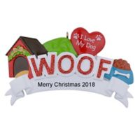 "Maxora WOOF ""I Love My Dog"" Personalized Christmas Ornament"