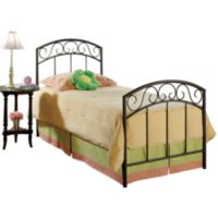 Hillsdale Wendell Copper Pebble Twin Duo Panel Bed Set with Rails