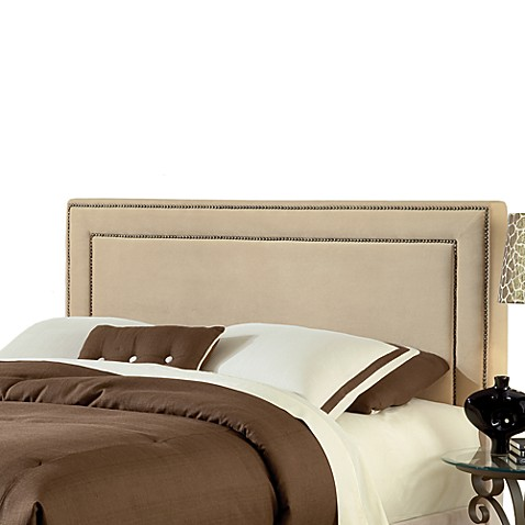 Hillsdale Amber Queen Headboard with Rails in Buckwheat