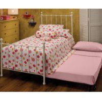 Hillsdale Molly White Twin Bed with Trundle & Deck in White