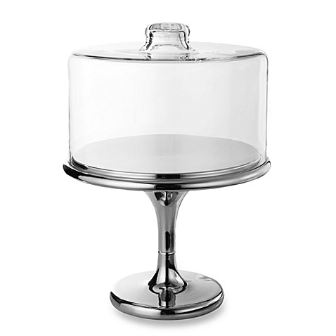 Maison Glassworks Clear Dome Cake Plate with Chrome Base  sc 1 st  Bed Bath \u0026 Beyond & Maison Glassworks Clear Dome Cake Plate with Chrome Base - Bed Bath ...