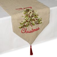 Ribboned Christmas Tree 72-Inch Table Runner