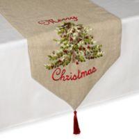Ribboned Christmas Tree 108-Inch Table Runner