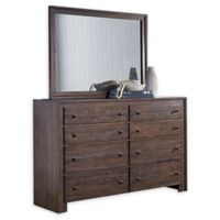 Lifestyle Solutions Camelo 8-Drawer Dresser in Distressed Mahogany