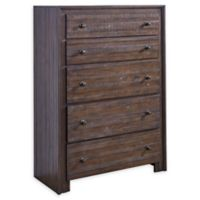 Lifestyle Solutions Camelo 5-Drawer Chest in Distressed Mahogany