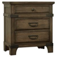 Lifestyle Solutions Bruno 3-Drawer Nightstand in Vintage Brown