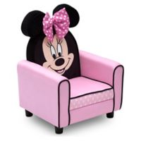 Disney® Minnie Mouse Figural Upholstered Kids Chair in Pink/Black