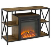 Forest Gate 40-Inch Fireplace TV Console in Barnwood