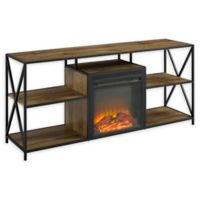Forest Gate 60-Inch Fireplace TV Console in Barnwood