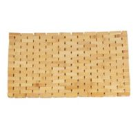 Mind Reader Luxury Anti-Slip Shower Bath Mat in Brown