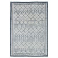 ECARPETGALLERY One of a Kind La Seda 5'2 x 7'8 Hand-Knotted Area Rug in Ivory/Blue