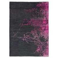 ECARPETGALLERY One of a Kind La Seda 5'7 x 7'9 Hand-Knotted Area Rug in Pink/Grey