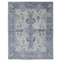ECARPETGALLERY One of a Kind Jules Ushak 7'10 x 9'10 Hand-Knotted Rug in Blue/Grey