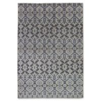 ECARPETGALLERY One of a Kind 5'2 x 7'9 La Seda Hand-Knotted Area Rug in Brown/Blue