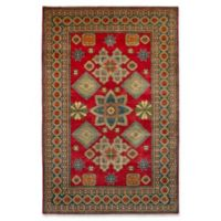 ECARPETGALLERY One of a Kind Finest Gazni 6'5 x 10' Hand-Knotted Rug in Red/Green