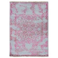 ECARPETGALLERY One of a Kind Jules Ushak 5'6 7'7 Hand-Knotted Area Rug in Pink