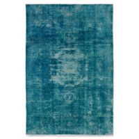 ECARPETGALLERY One of a Kind Color Transition 6' X 8'11 Hand-Knotted Rug in Teal/Aqua
