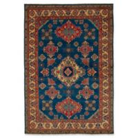 ECARPETGALLERY One of a Kind Finest Gazni 6' x 8'9 Hand-Knotted Rug in Yellow/Blue