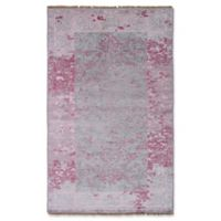 ECARPETGALLERY One of a Kind Jules Ushak 5' x 8'2 Hand-Knotted Area Rug in Blush