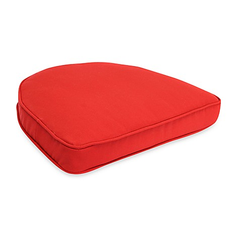 Buy solar curved seat cushion in salsa red from bed bath for Bed bath beyond gel seat cushion