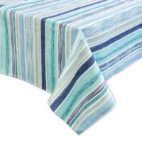 Destination Summer Laguna Striped Indoor/Outdoor 60-Inch x 84-Inch Oblong Tablecloth in Blue
