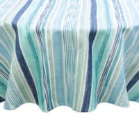 Destination Summer Laguna Striped Indoor/Outdoor 60-Inch Round Tablecloth in Blue