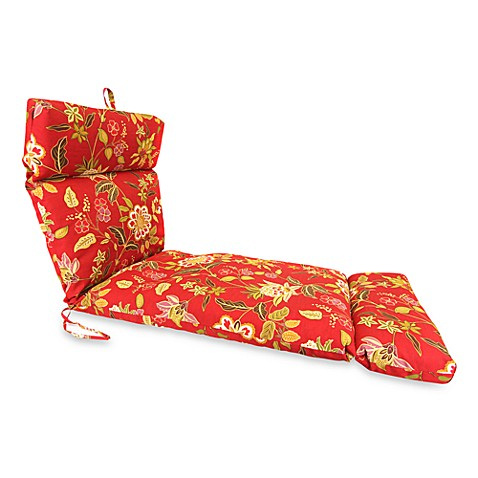 Buy outdoor chaise lounge cushion in alberta salsa from for Buy outdoor chaise lounge