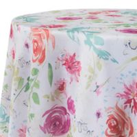 Spring Splendor Floral 70-Inch Round Tablecloth