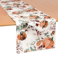 Bardwil Linens Autumn Meadow 70-Inch Table Runner in Green