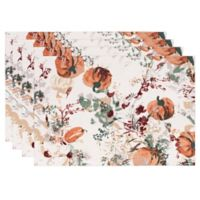 Bardwil Linens Autumn Meadow Placemats in Green (Set of 4)