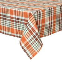 Bardwil Linens Berry Plaid 60-Inch x 84-Inch Oblong Tablecloth in Brown