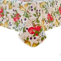 Everyday Fruits 70-Inch Round Vinyl Tablecloth