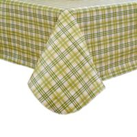 Homestead Plaid 52-Inch Square Tablecloth in Green