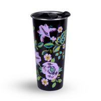 Vera Bradley® Vines Floral 16 oz. Stainless Steel Travel Mug in Black