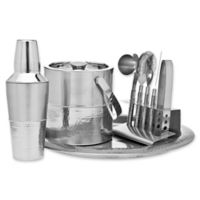 Godinger 9-Piece Hammered Barware Set