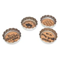 Godinger Beer Bottle Cap Coasters (Set of 4)