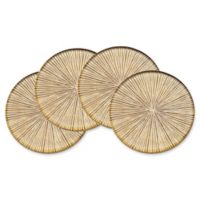 Godinger Dax Crystal Coasters in Gold (Set of 4)