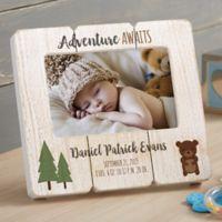 Woodland Adventure Bear Shiplap Picture Frame