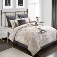 Paris 8-Piece Reversible Queen Comforter Set in Rose Gold