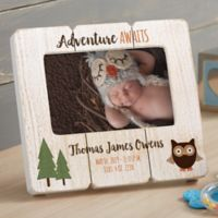 Woodland Adventure Owl Shiplap Picture Frame