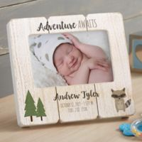 Woodland Adventure Raccoon Shiplap Picture Frame